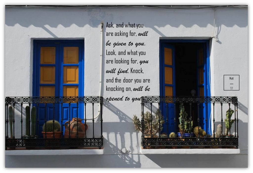 Pray and Ask, Frigiliana, Costa del Sol