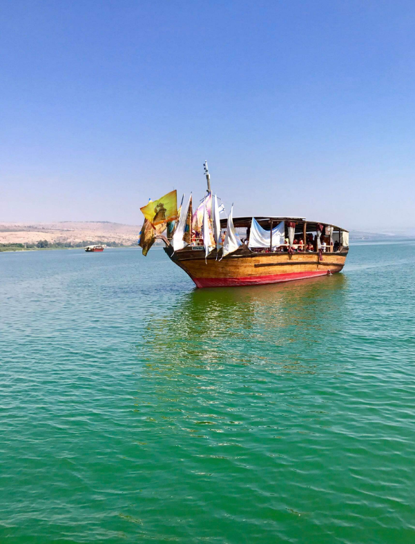 Traditional style boat Sea of Galilee