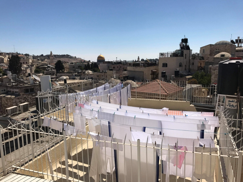 Washing day in Jerusalem
