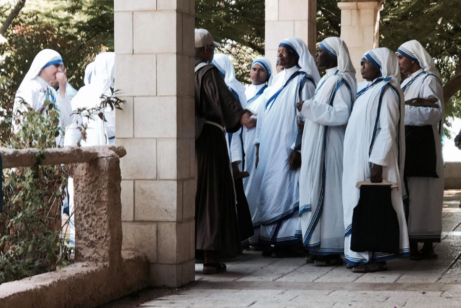 Nuns at the Church of the Beatitudes