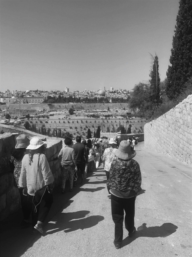 Mount of Olives tourists