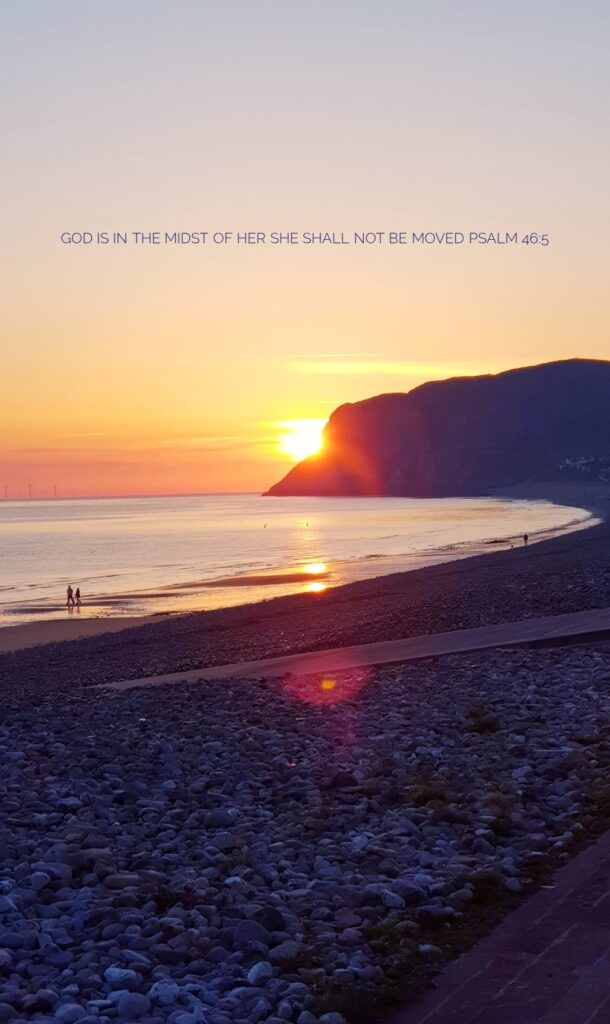 West Shore, LLandudno sunset Psalm 46