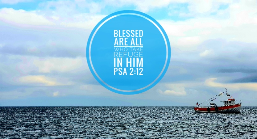 Blessed are all who take refuge in Him - Llandudno Bay